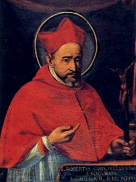 An image of Robert Bellarmine facing the viewer of the image.